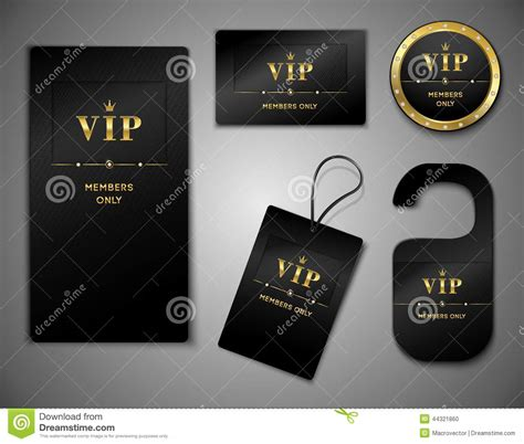platinum membership card template vip cards design template stock vector image 44321860