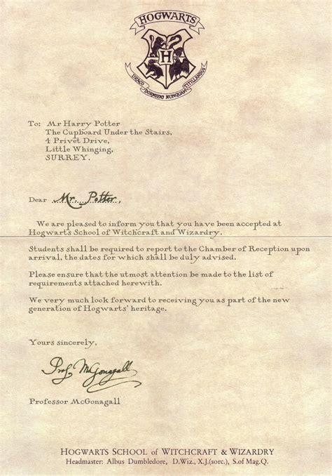 Hogwarts Acceptance Letter Prom Liamos Nuestro Ingl 233 S Diciembre 2010