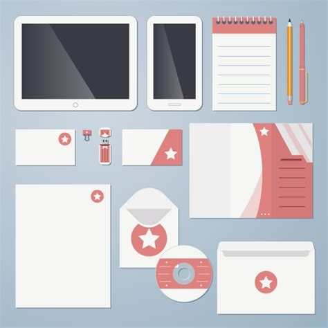 flat corporate identity objects on creative market
