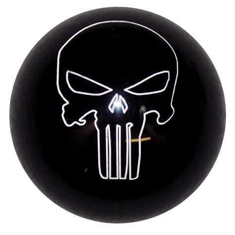 Shift Knob Skull by Punisher Skull Black Shift Knob