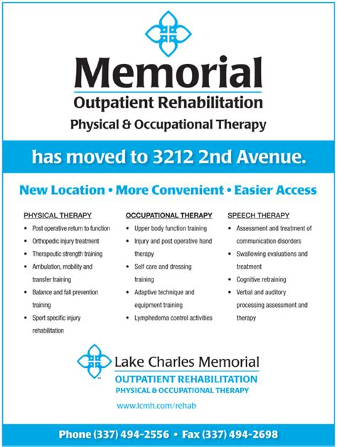 Memorial Detox by Outpatient Rehab Physical Occupational Therapy Moved
