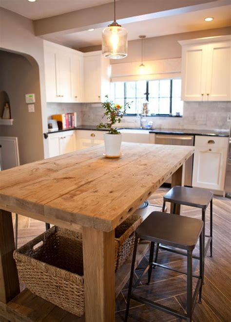 rustic kitchen island table fabulous kitchen island designs