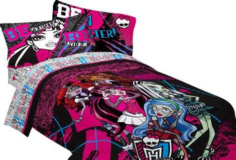 monster high full comforter monster high ghoulie gang twin full comforter walmart ca