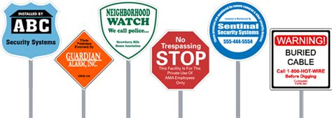 image gallery home security yard sign