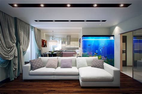 fish tank living room living room design idea ipc033 unique living room
