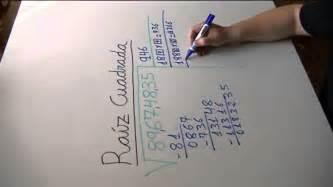 raiz cuadrada de 68 ra 237 z cuadrada de un n 250 mero de 8 cifras youtube