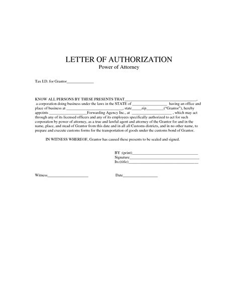 Authorization Letter And Power Of Attorney Best Photos Of Corporate Power Of Attorney Sle Simple Power Of Attorney Form Template