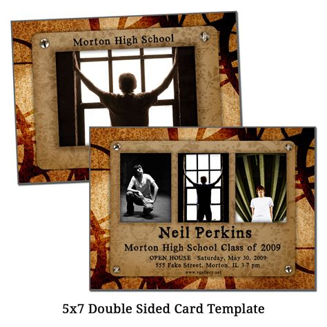 5x7 Double Sided Card Template Photo Lineup Digital File Sided Postcard Template Photoshop