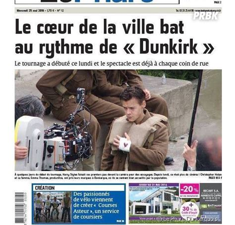 dunkirk film acteur harry styles acteur premi 232 re photo sur le tournage de