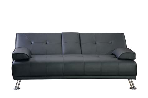 flip down sofa bed modern faux leather 3 seater sofa bed fold down table