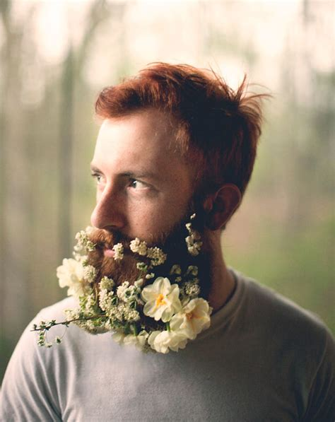 guys are decorating their beards with flowers to celebrate flower beards are the latest hipster trend on the internet