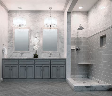 Bathroom Wall Tile Stores Style Profile White Marble Midcentury Bathroom