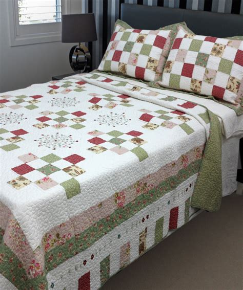 Patchwork Country Quilts by Country Vintage Inspired Patchwork Bed Quilt
