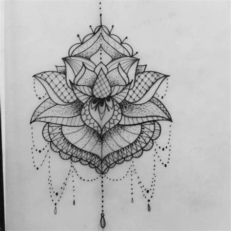 lotus mandala tattoo like the delicate details here makeup looks