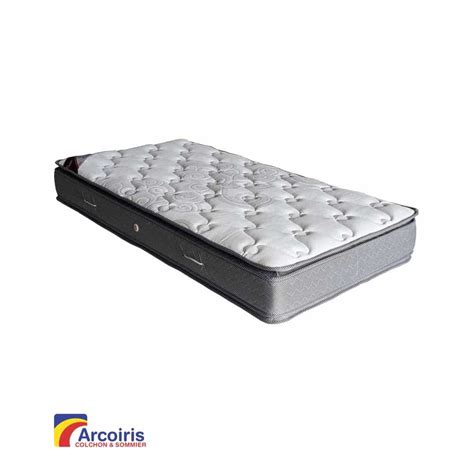 max colch n colch 211 n resortes pacific con doble pillow 190x150 arcoiris