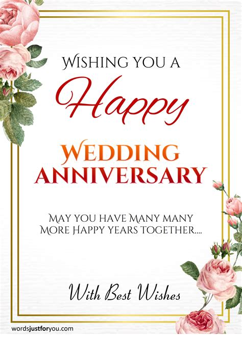 happy wedding anniversary card words     downloads   sharing
