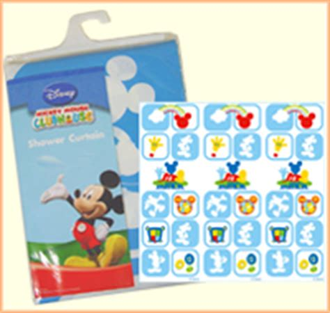 mickey mouse clubhouse shower curtain disney mickey mouse clubhouse products houseware
