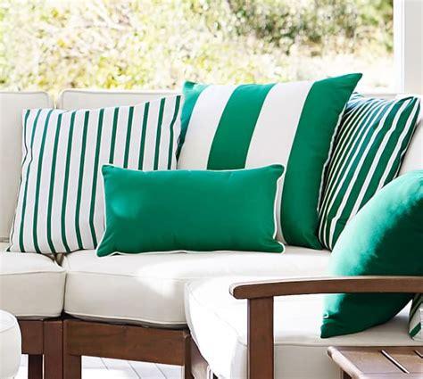 pottery barn indoor outdoor sofa indoor outdoor sunbrella 174 brice stripe pillow pottery barn