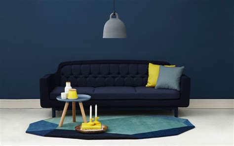 blue and yellow sofa yellow living room with red accent wall 2017 2018 best