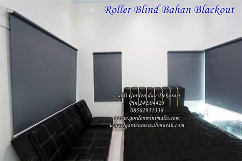 Gorden Tarikan jual gorden roller blind blackout berkualitas model