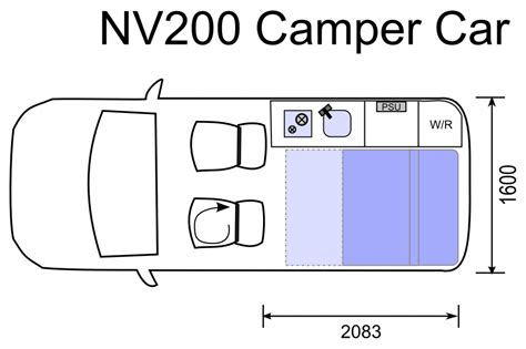 Compact Floor Plans we need something like the nissan nv200 sussex campervan