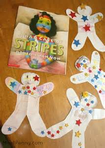 Art project for a bad case of stripes make a paper doll