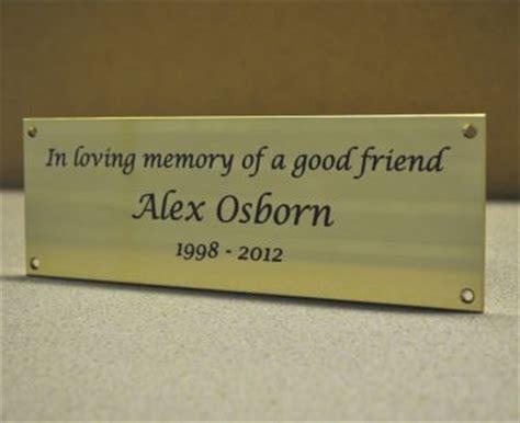 memorial bench plaque brass memorial bench plaque brunel engraving