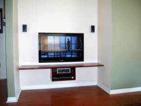 floating shelf tv in bonus room projects to try