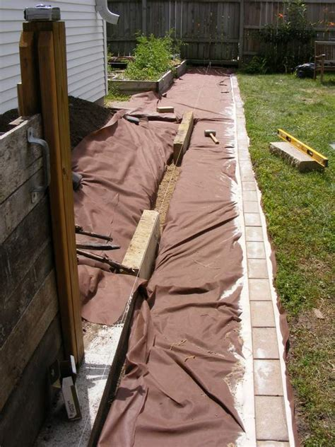 Landscape Fabric Before Edging Building A Wood Chip Path And A Raised Garden Bed D Oh I Y