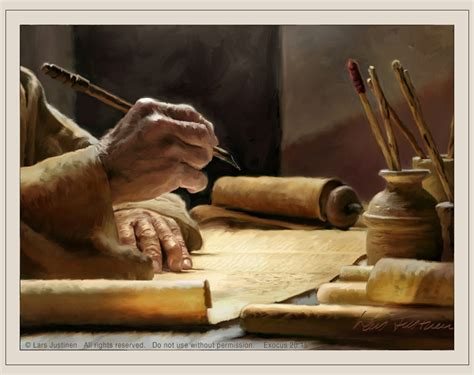 becoming a scribe books paintings by lars justinen