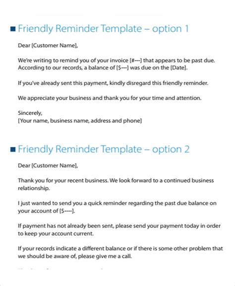 Business Letter Template Collections 7 collection letter templates 7 free sle exle