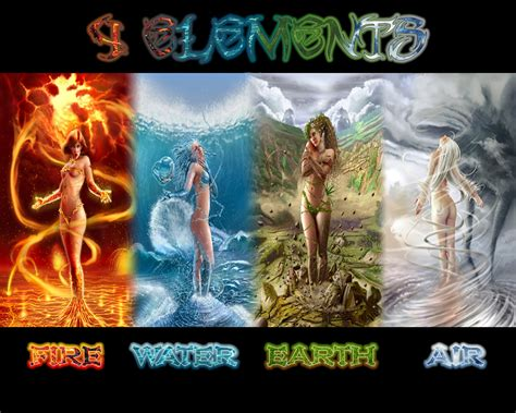 wallpaper classical elements 4 elements by shady06 on deviantart