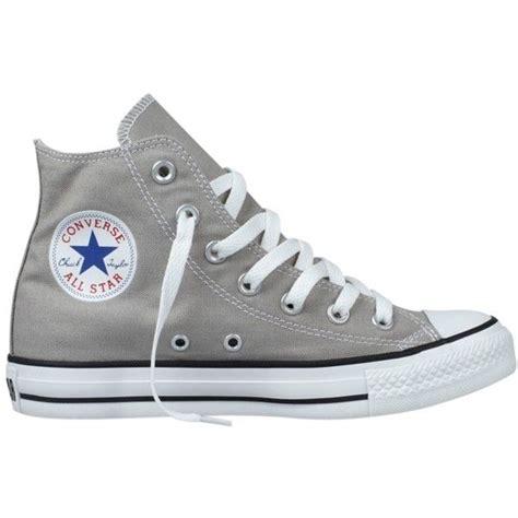 light gray high top converse converse chuck taylor all star hi top trainers elephant