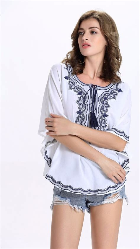 Summer Embroidery Blouse by Plus Size Summer Summer Blouse Tops