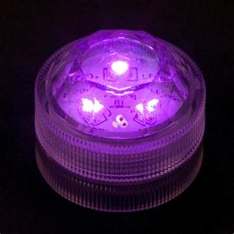 purple submersible triple led light