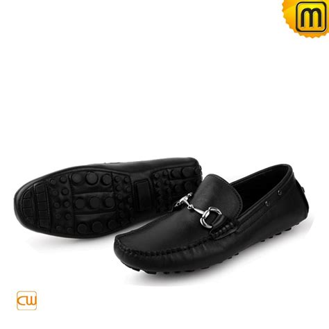 black loafer shoes mens black brown leather loafers cw709098