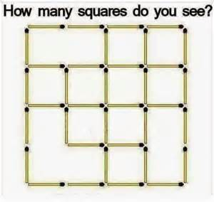 Visualize Square Math Puzzles How Many Squares Do You See