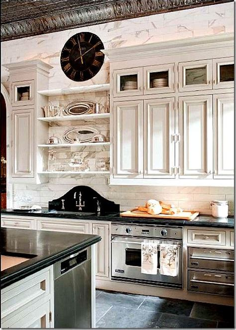 beautiful tumbled marble subway tile with livonia raised interiorstyledesign beautiful french country kitchen with