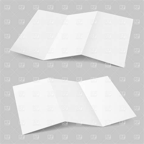 Accordion Fold Paper - blank accordion fold paper sheet vector image 20509