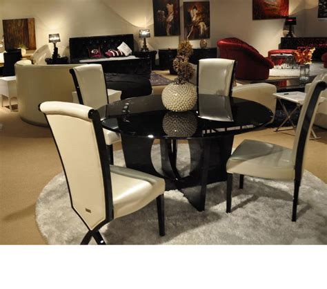 round glass dining room tables dreamfurniture com 8929 armani xavira round glass dining