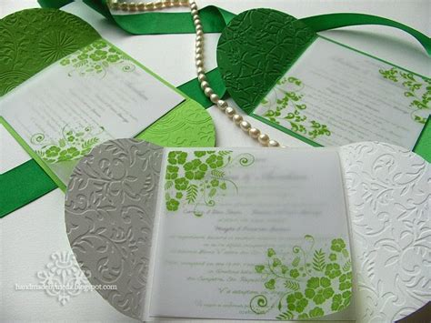Green Wedding Invitations by Green And White Summer Wedding Invitations Invitatii Alb