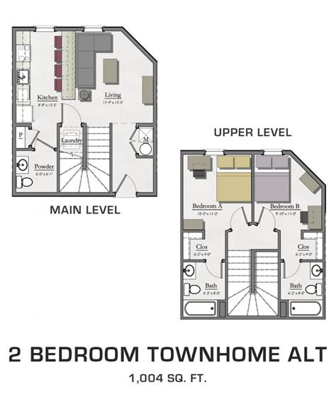 luxury 2 bedroom with loft house plans new home plans design 2 bedroom townhome alternate hannah lofts and townhomes