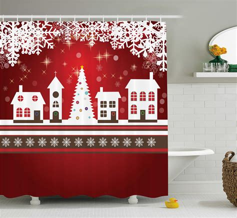 Winter Themed Shower Curtains by Winter Holidays Themed Gingerbread House Tree Lights Image