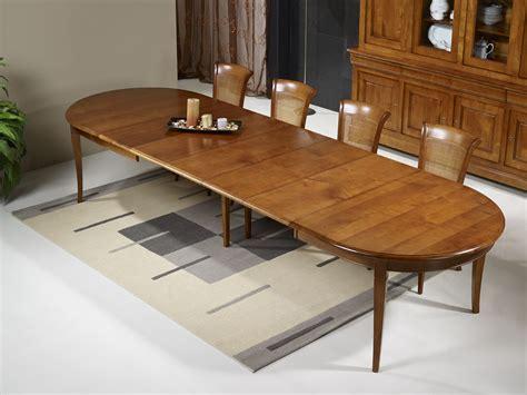 table ovale 180x120 en merisier massif de style louis