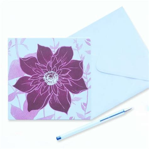Large flower on blank card