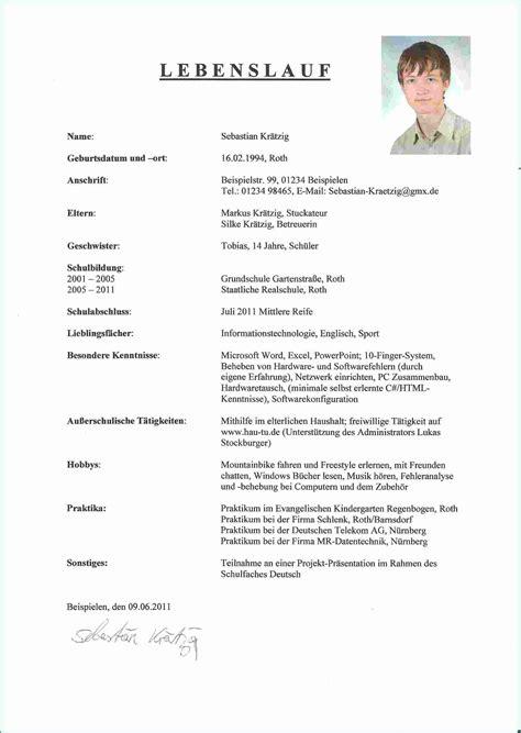 Bewerbung Grundschule 11 Bewerbung Sch 252 Lerpraktikum 9 Klasse Rechnungsvorlage