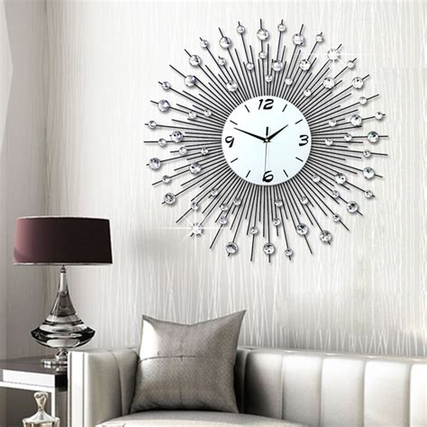 living room wall clocks luminousness living room wall clock large brief fashion