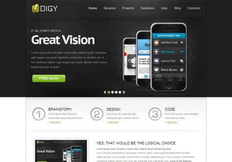 html5 themes digy responsive html5 template html5xcss3
