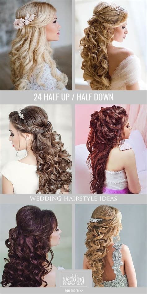 wedding hair up and curly 42 half up half wedding hairstyles ideas curly