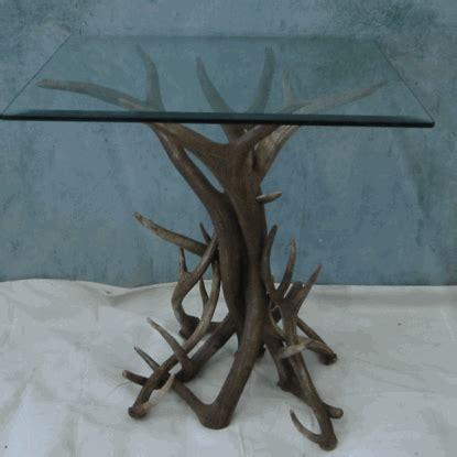 Deer Table Peak Elk And Mule Deer Antler End Table